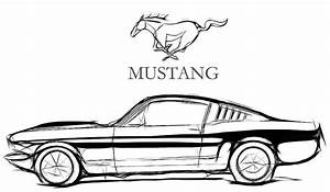 2 Mustang Drawing Vintage For Free Download On Ayoqq Cliparts