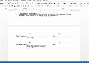 populate a buyer representation agreement from With signed document template