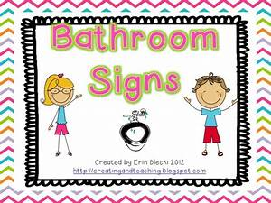 Free toilet clipart for teachers clipart collection for Bathroom signs for classroom
