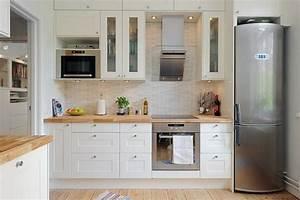 Kleine Küche Einrichten : skandinavisches k chen design sorgt f r gem tlichkeit ~ Sanjose-hotels-ca.com Haus und Dekorationen