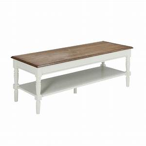 convenience concepts oxford white coffee table 203082w With white driftwood coffee table