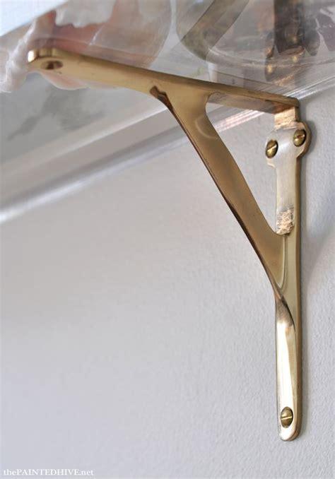 acrylic brass wall shelves  discount brass