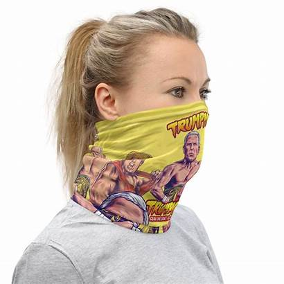 Face Trump Mask Gaiter Neck Pence Tag