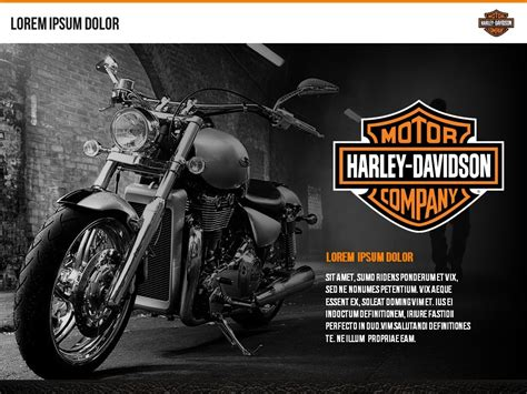 harley davidson slidegenius powerpoint design pitch