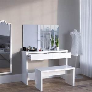 Miroir De Coiffeuse : coiffeuse banc miroir cielterre commerce ~ Teatrodelosmanantiales.com Idées de Décoration