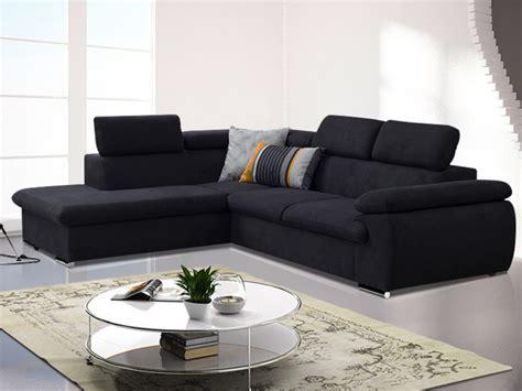 mobilier de bureau jpg canapé d 39 angle convertible en tissu taupe ou noir fabien