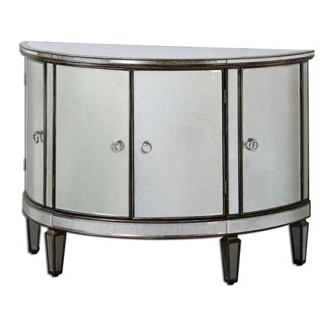 to the uttermost uttermost 24376 sainsbury mirrored console cabinet