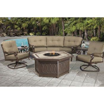 kirkland signature alumicast 6 piece fire chat outdoors