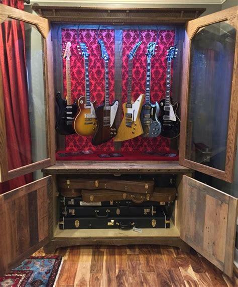 oak barn wood guitar display cabinets  dustyguy