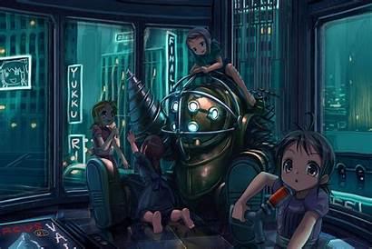Bioshock Anime Person Background Shooter 2k Shock