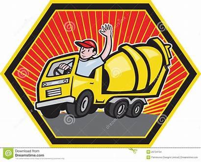 Cement Truck Driver Construction Concrete Mixer Worker