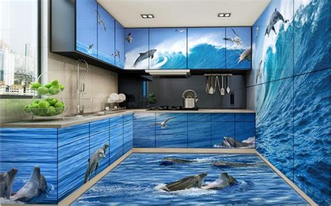 stereoscopic wallpaper custom  floor pvc