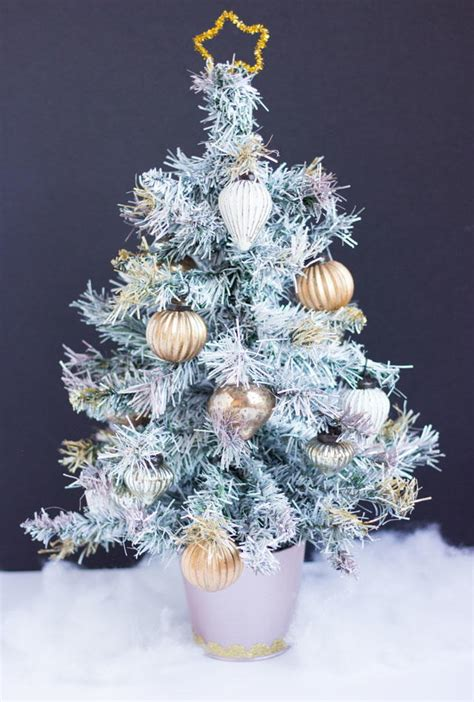 white christmas spray paint christmas tree