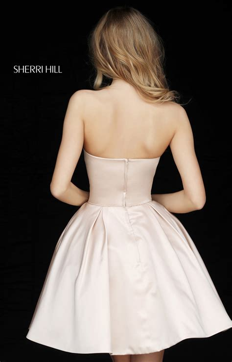 sherri hill  short ball gown dress  beaded