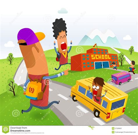 go to school royalty free stock photography cartoondealer 27028661