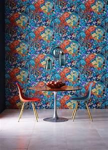 Papier Peint Fleuri : le papier peint fleuri s 39 affiche au mur madame figaro ~ Premium-room.com Idées de Décoration