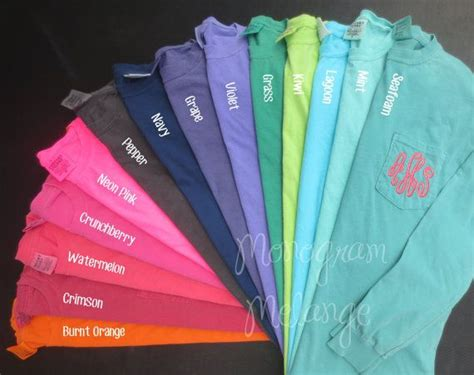 comfort color colors best 25 comfort colors ideas on monogram