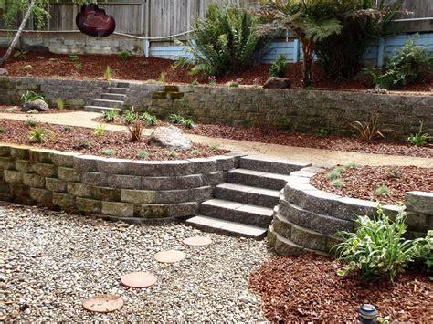 backyard slope landscaping sloped backyard no problem yelp