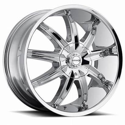 Chrome Gitano 60 Center Cap Wheels Lug