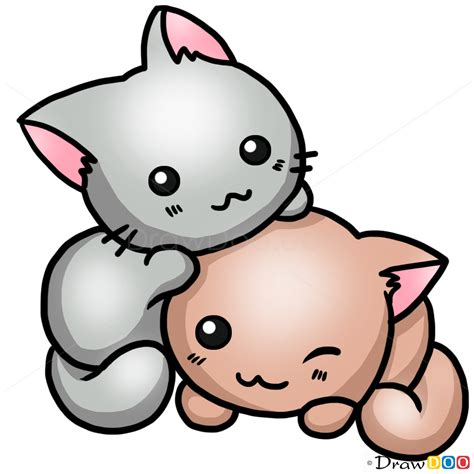 draw  cute cat cats  kittens easy drawing
