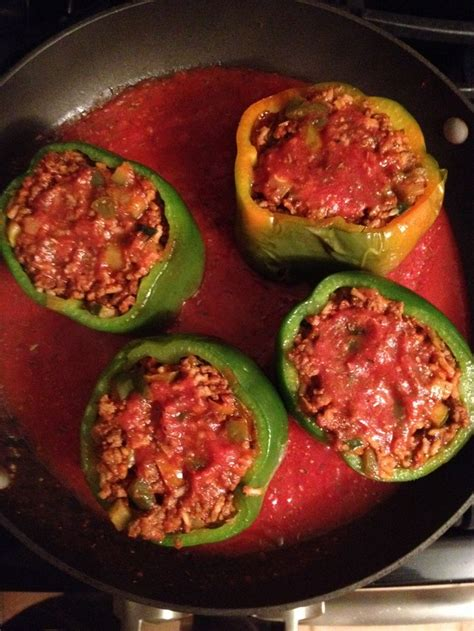 stuffed peppers with rice beef and rice stuffed peppers yummies pinterest