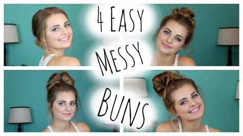 no heat easy hairstyles no heat hairstyles 4 easy messy buns hautebrilliance
