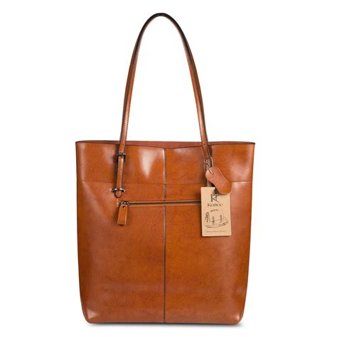 kattee leather shoulder bag tote purse handbag