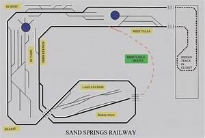 Sand Springs Railway N Scale Layout Track Diagram