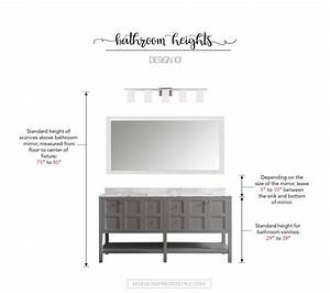 design 101 how high to place your bathroom fixtures With how high should a bathroom vanity be