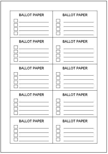 voting ballot template  word merry christmas