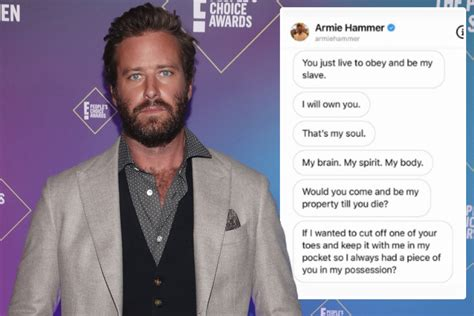 Armie Hammer 'wanted to cut off girlfriend's toe to keep ...