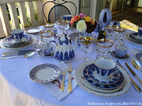 dining   balcony table setting  lomonosov porcelain