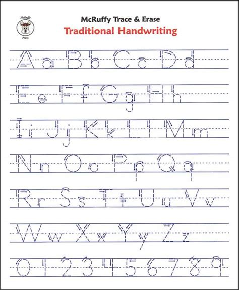 basic handwriting for manuscript letters of the