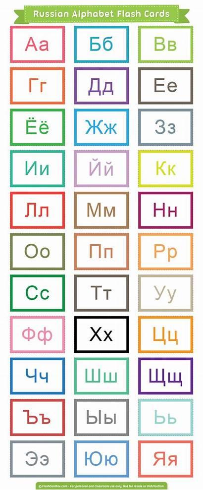 Alphabet Russian Flash Cards Printable Pdf Learn