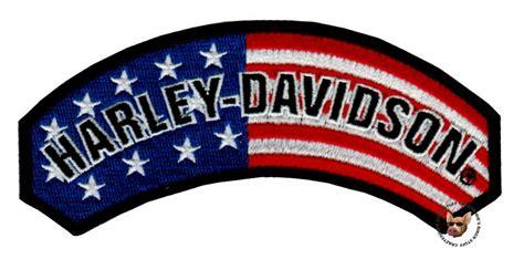 harley davidson patches harley davidson usa flag rocker vest patch patriotic motorcycle patch made usa ebay