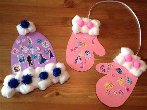 winter hat and mitten craft winter craft winter 871 | c239524a11067e80596180bfd0b6f206