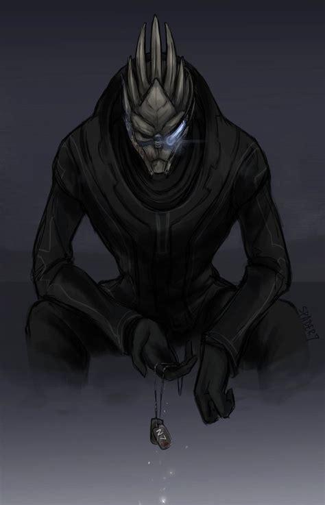 Mass Effect Fan Art Featuring Garrus And Saren