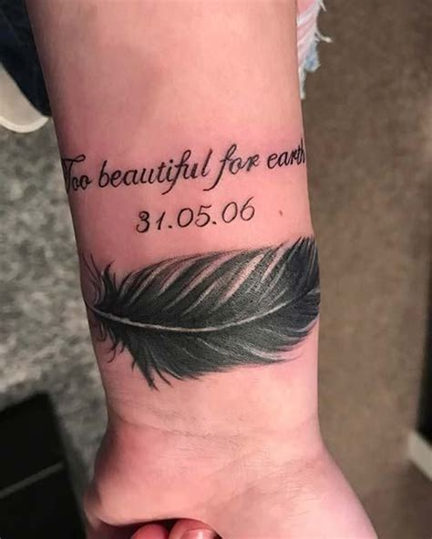 emotional memorial tattoos  honor loved  tatted
