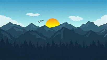 Flat Illustrator Landscape Desktop Wallpapers Adobe Calendar