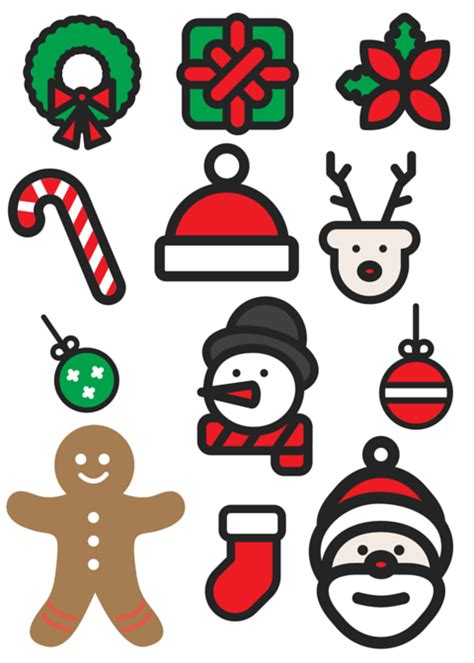printable christmas cutouts and decorations the big post small living magic free printable