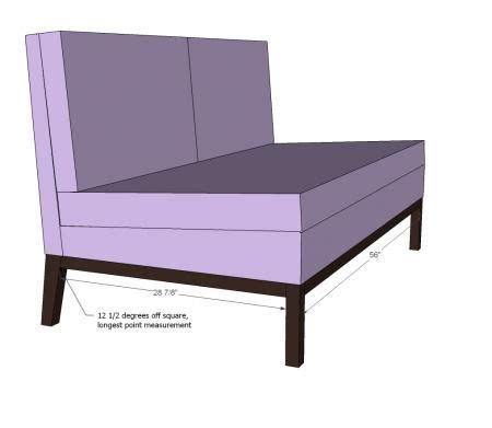 Diy Settee by White Build A Upholstered Settee Free And Easy Diy
