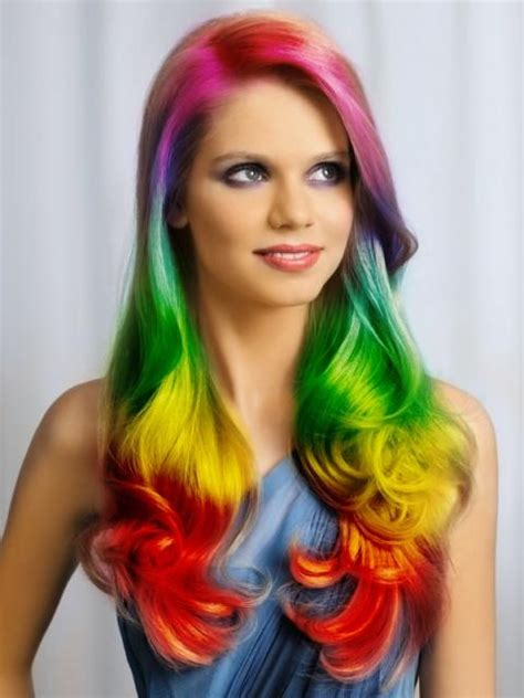 Cool Color Hairstyles by 30 Rainbow Colored Hairstyles To Try Pretty Designs