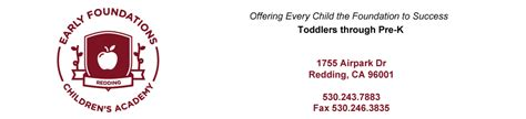 redding child care infants toddlers preschool pre 156 | efcaheader1000x228