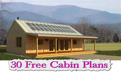 30 Free Cabin Plans Free Cabin Plans With Loft, Micro