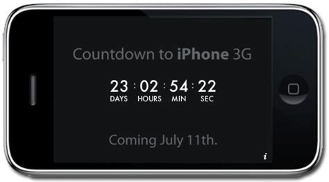 how to make a countdown on iphone july 11th 3g iphone countdown widget the ilife