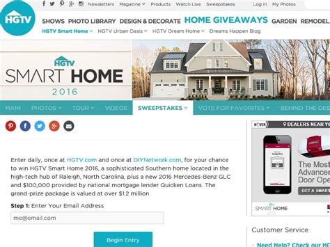 hgtv smart home giveaway sweepstakes sweepstakes fanatics