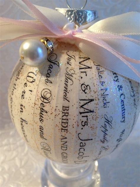 personalized wedding ornament wedding invitation ornament