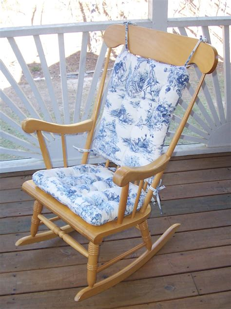 country toile standard size rocking chair cushions