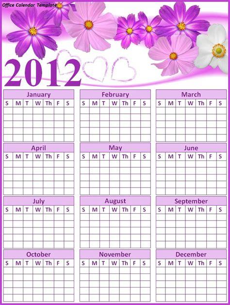 office calendar office calendar template free printable word templates