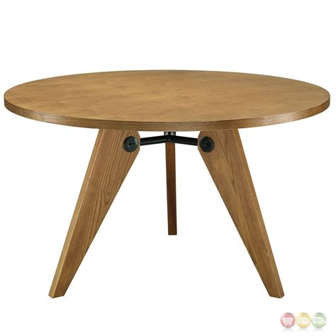 """Laurel 47"""" Round Dining Table In Natural Wood Finish, Walnut"""